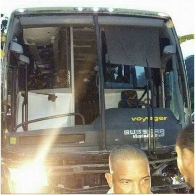 Autobús Caribe Tours Barahona-Santo Domingo sufre accidente