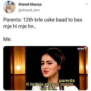 Ananya Panday Meme (Main Bahut Struggle Kiya Hai)