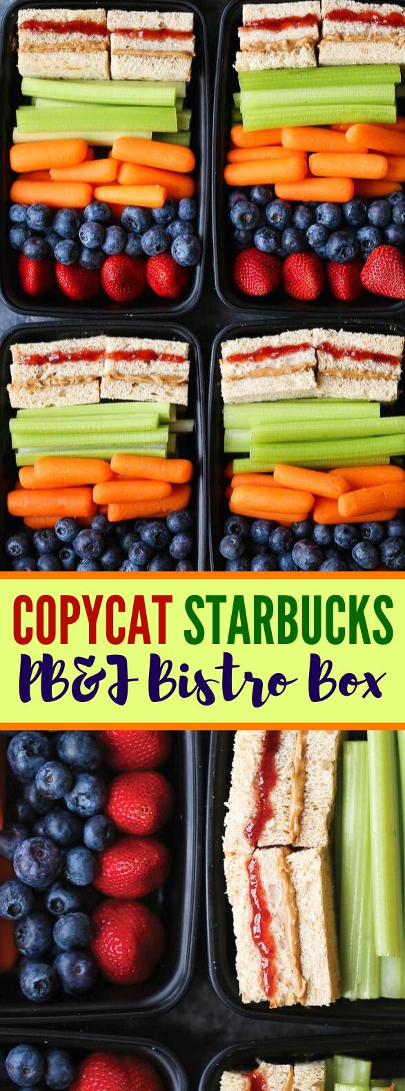 COPYCAT STARBUCKS PB&J BISTRO BOX #healthylunch #diet