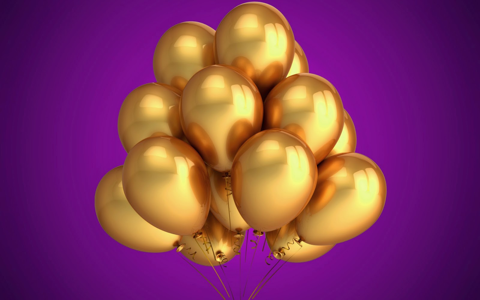 Gouden verjaardagsballonnen