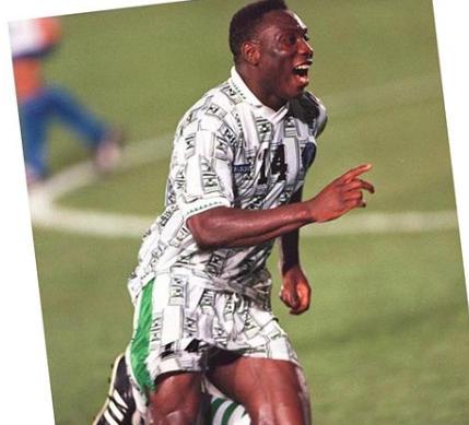 "Image result for Buhari appoints Daniel Amokachi as Football Ambassador"""