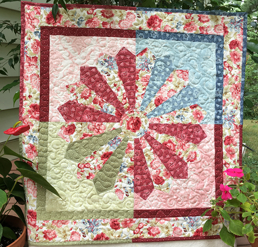 Fleur du Jardin Quilt Free Pattern designed By Debby Kratovil Quilts fabrics by Red Rooster for Bear Creek Quilting Company