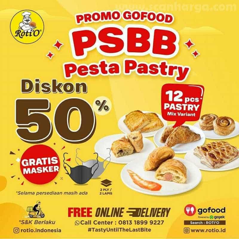 Promo Roti 'O Paket PSBB Pesta Pastri Hingga 31 Juli 2020