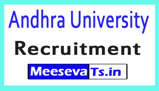 Andhra University AU Recruitment