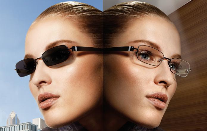 Photochromic changeable transition lenses