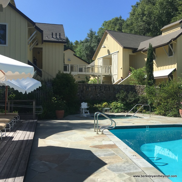 pool overview at The Farmhouse Inn in Forestville, California