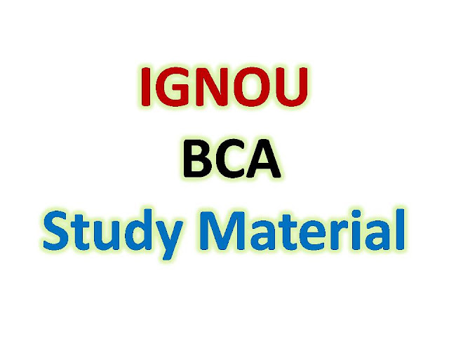 IGNOU BCA Study Material
