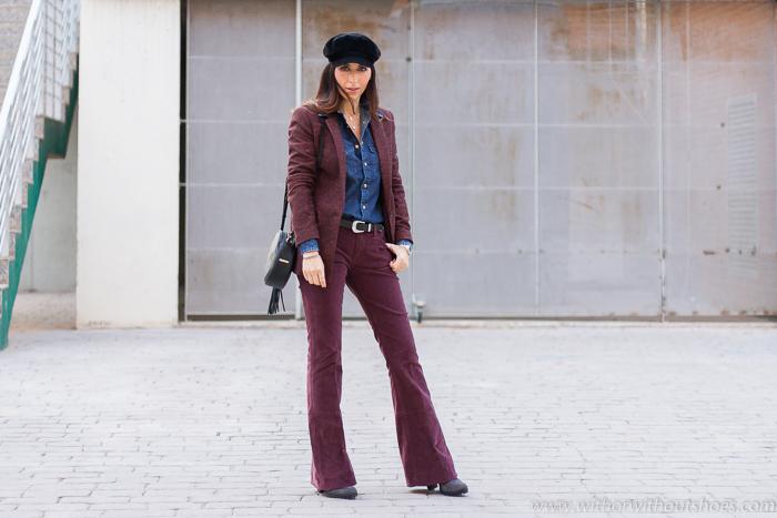 Tendencias Streetstyle: Los pantalones de pana son los protagonistas del invierno