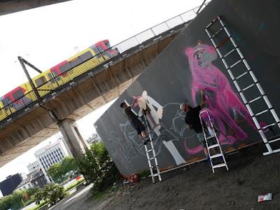 Mur d'expression libre Behind The Ring à Charleroi proposé par la MJ de Marcinelle