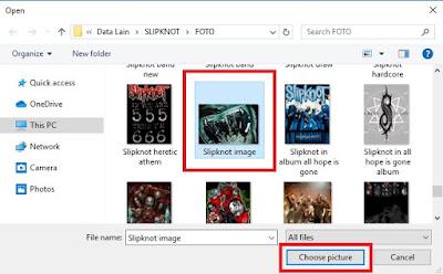 Pilih gambarnya dan klik Choose Picture untuk memasang menjadi wallpaper.