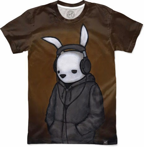 "Luke Chueh T-Shirt Collection by Nuvango - ""Headphones"" T-Shirt"