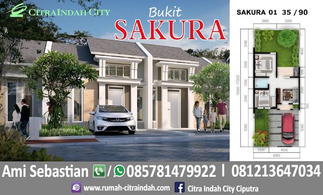 Gambar dan Denah Tipe SAKURA 1 - 35/90 Citra Indah City