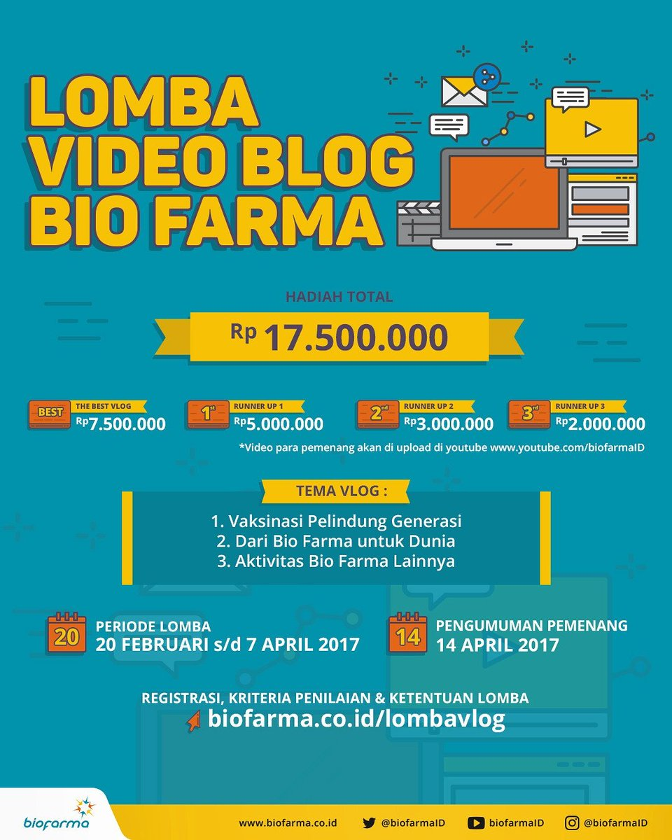 Lomba Video Blog Bio Farma 2017