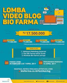Lomba Video Blog Bio Farma 2017