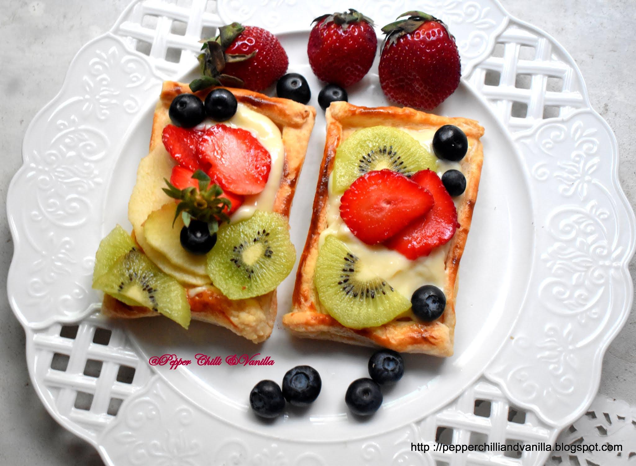 vanilla custard fruit tart recipe