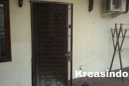 Pintu Besi Kasa Nyamuk Besi Minimalis Pemasangan Jl Ciawi Jakarta Selatan