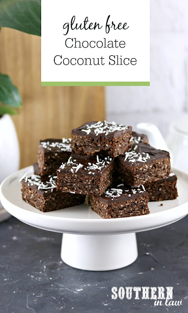 Gluten Free Chocolate Coconut Slice Recipe