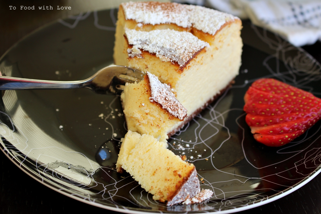 Cake Recipe Light And Fluffy: To Food With Love: Light And Fluffy Ricotta Cheesecake