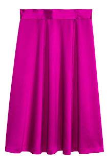 H&M Conscious satynowa fuksjowa spódnica wyprzedaż w H&M okazje blogger fashion blogger