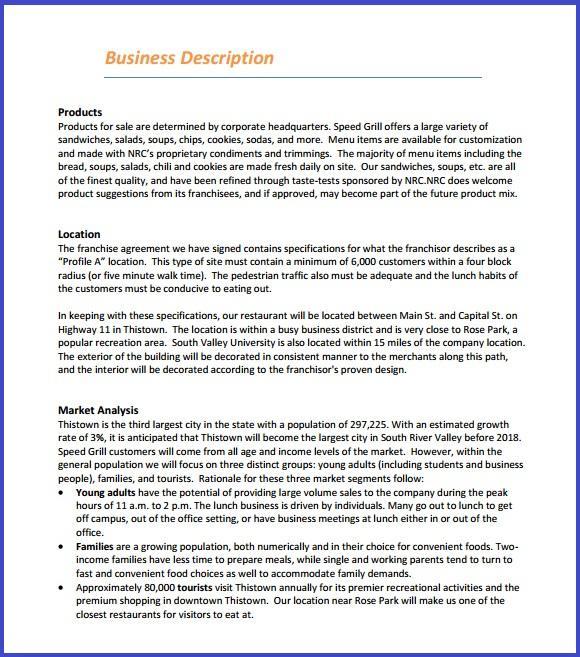 Restaurant Business Plan Template | Resume Business Template