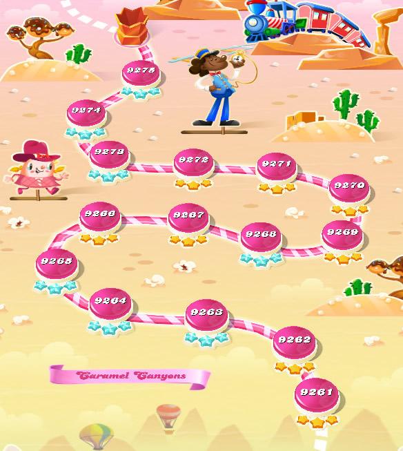 Candy Crush Saga level 9261-9275