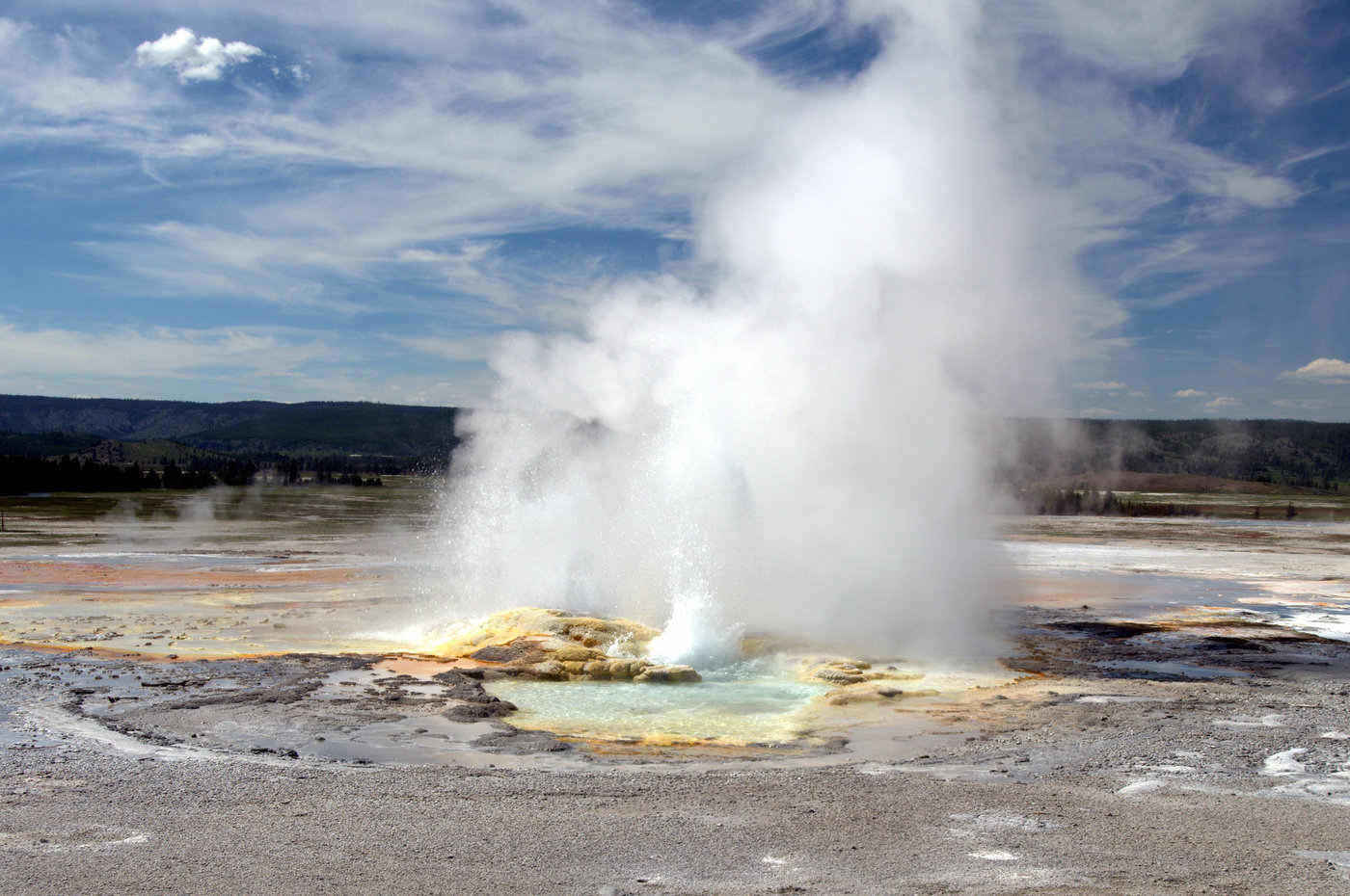 geyser at yellowstone national park - 12 stunning national parks in the united states