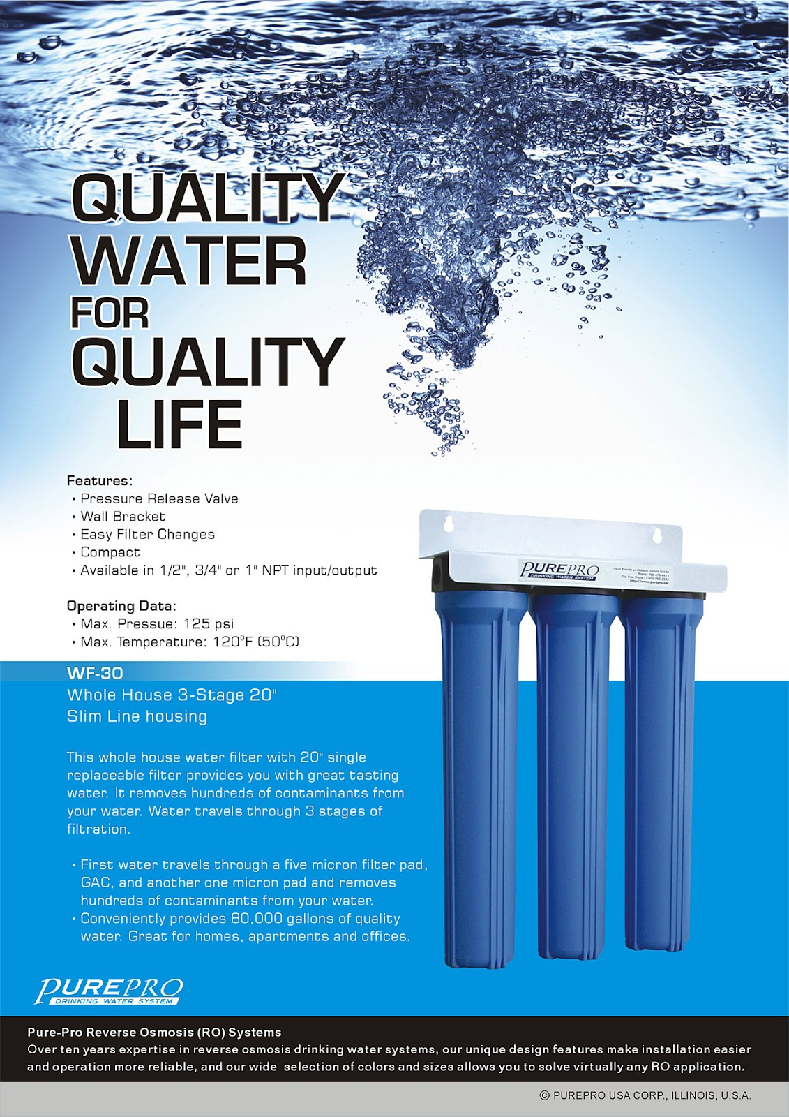 PurePro® WF-30 Whole House Water Filter System