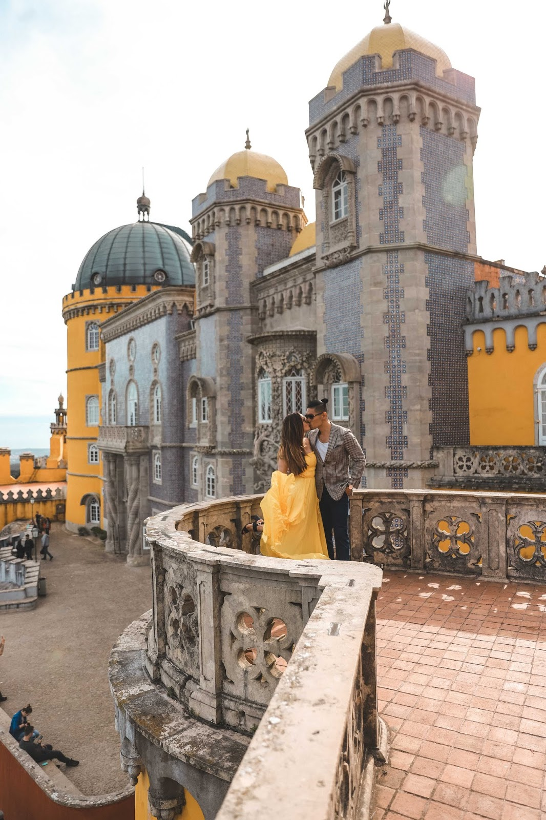 Alicia Mara and Leo Chan at Pena Palace in Sintra, Portugal | Travel Guide | AMWF Couple