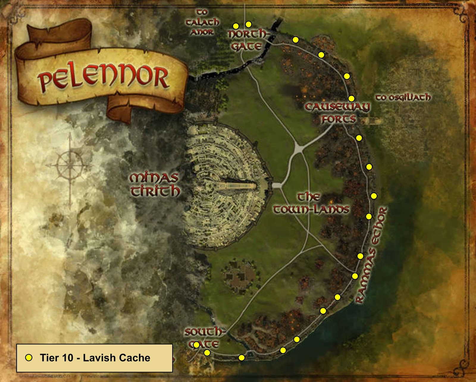 Wonderful Places In Lotros Middle Earth