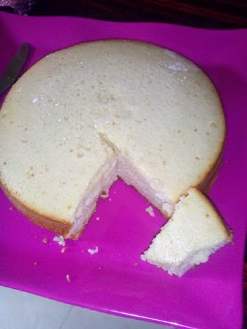Homemade whipped cream cake