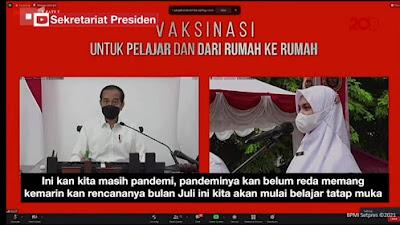 Ditanya Kapan Sekolah Tatap Muka, Ini Jawaban Jokowi