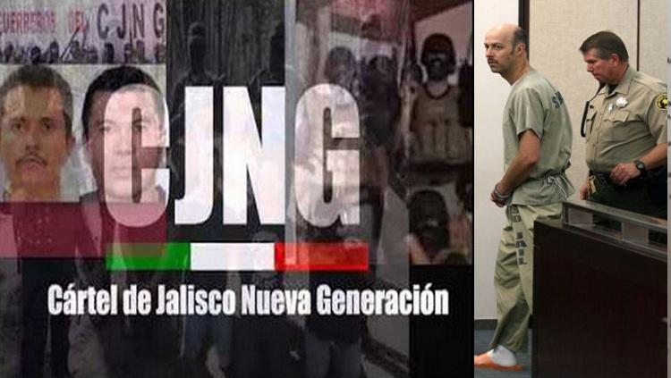 Esteban Loaiza  y los 20 kilos de cocaína asegurados en su propiedad; parte de una investigación a traficantes ligados al CJNG
