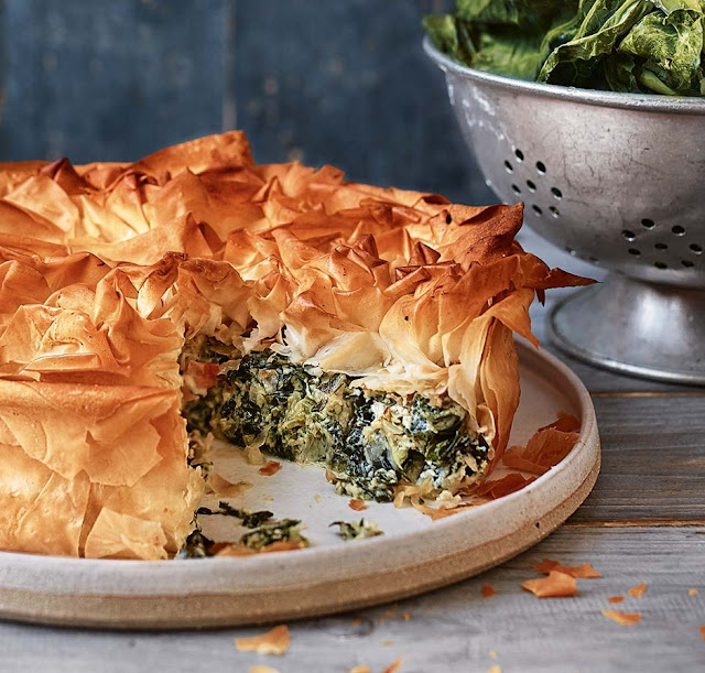 Spring Greens Spanakopita Recipe
