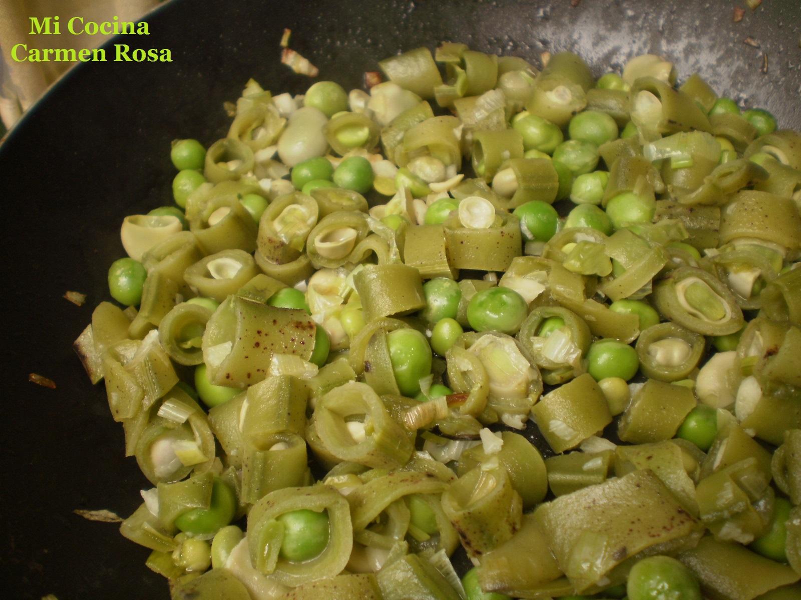 Mi cocina tortilla de guisantes habas frescas y jamon - Habas frescas con jamon ...