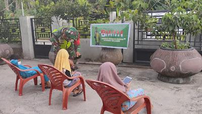 Kopda Bambang Bantu Siswa Belajar Secara Daring di Desa Kuala Penaso