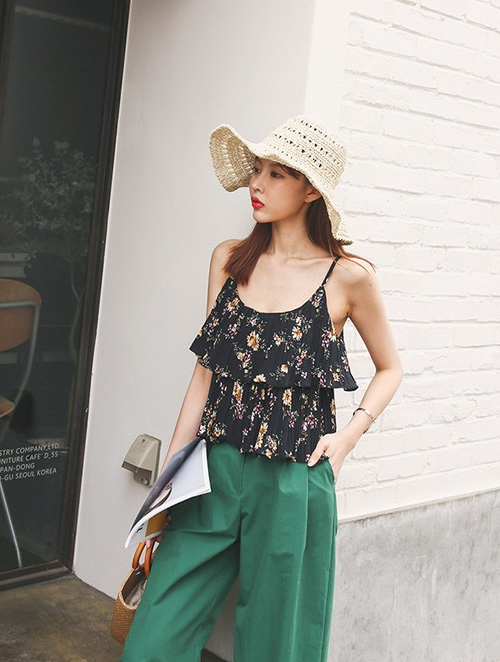 Floral Tiered Tank Top
