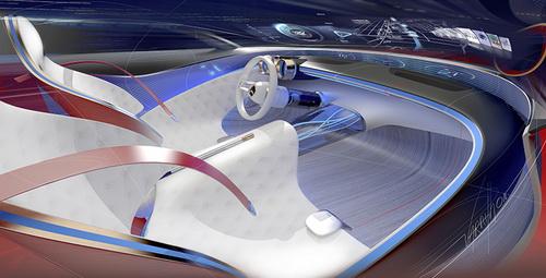 Tinuku Desain Mobil Vision Mercedes-Maybach 6 Digitalisasi Sedan Klasik Mewah