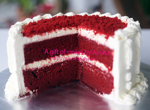 red velvet cake cream cheese frosting