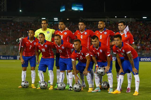 Formación de Chile ante Uruguay, amistoso disputado el 18 de noviembre de 2014