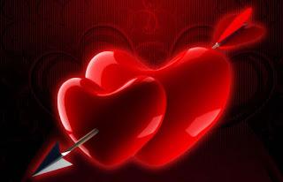 قلوب حمراء اللون حلوة
