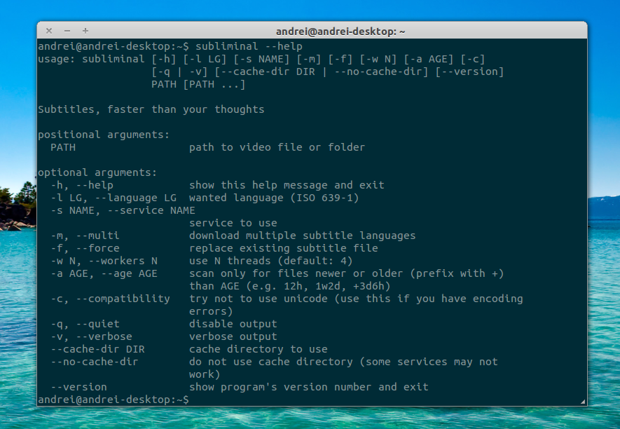 Subliminal: Command Line Tool To Download Subtitles From Multiple