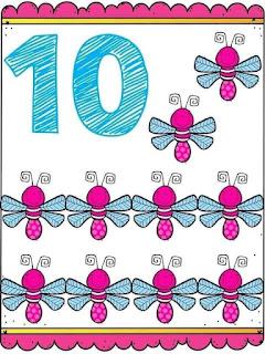 Tarjetas con números del 1 al 10