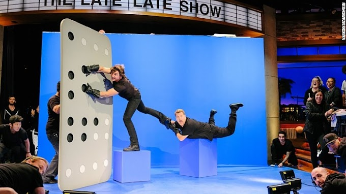 Tom Cruise re-enacts movie roles with James Corden