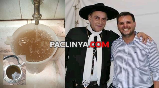 Un intendente que gasta fortunas en festivales mientras la gente toma agua con barro