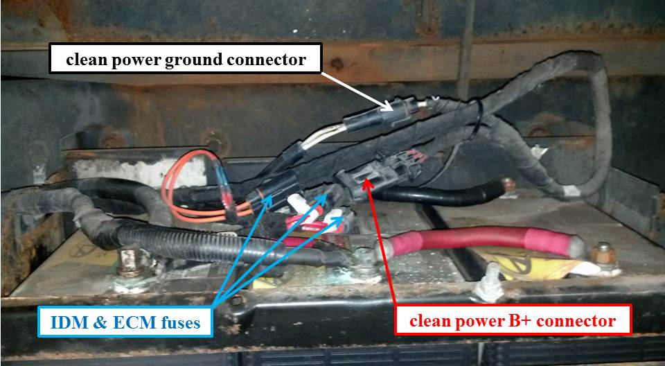 ihc 4300 clean power battery box connections
