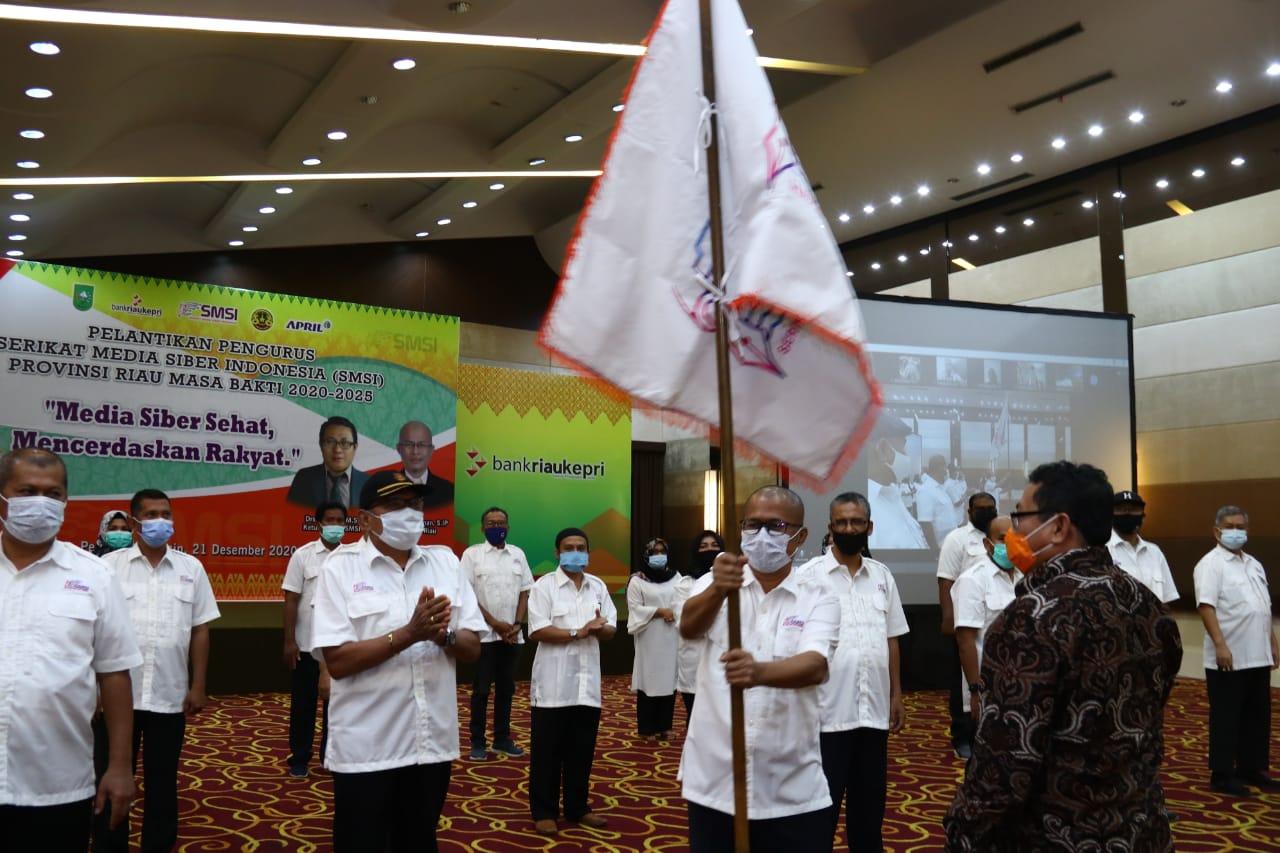 Resmi Dilantik, SMSI Riau Siap Bermitra dengan Pemerintah