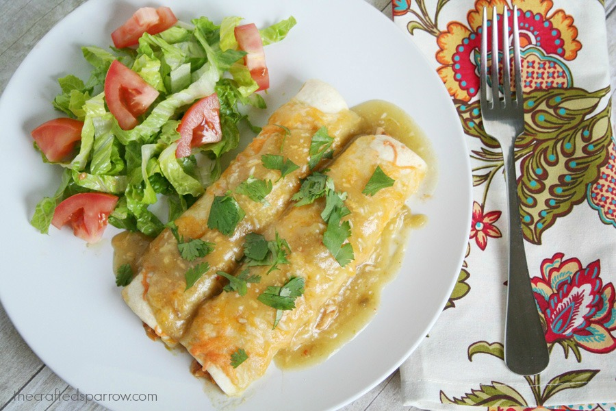 Spicy-Ranch-Chicken-Enchiladas