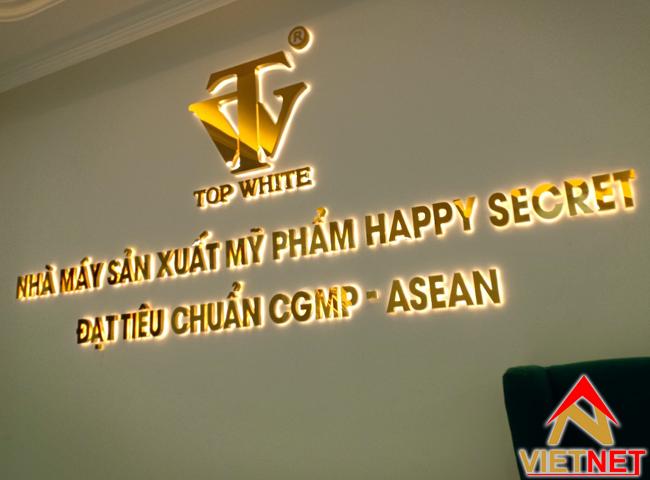 bang hieu chu inox vang cong ty nha may san xuat my pham top white