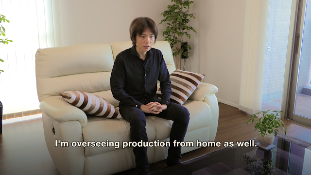 Masahiro Sakurai home house couch Super Smash Bros. Ultimate production