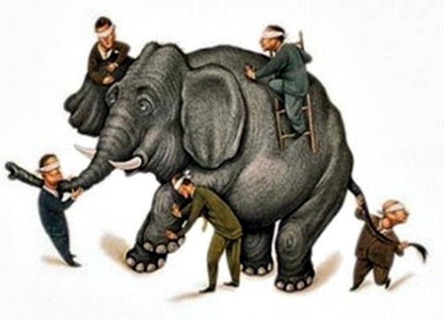 orang buta yang memegang gajah